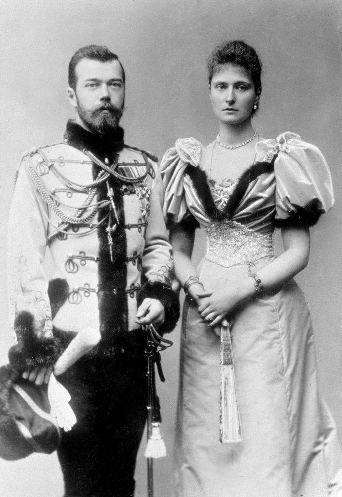 Николай II и императрица Александра Федоровна. 1896 г.